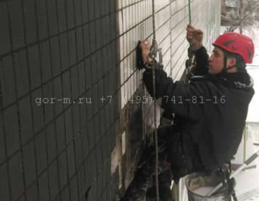 чистка фасада от копоти